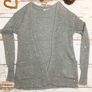 Halogen grey cardigan with sequins size small